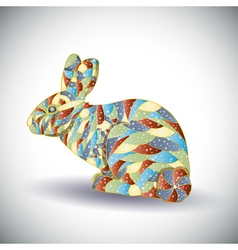 Abstract colorful rabbit vector image