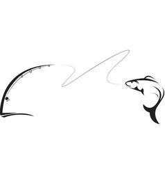 Angler fishing vector image vector image
