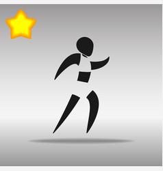 athletics black icon button logo symbol vector image