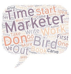 Bird by bird text background wordcloud concept vector