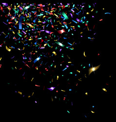 Bright colorful confetti vector