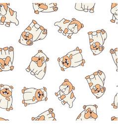 bulldog pattern vector image
