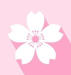 Cherry blossom icon vector