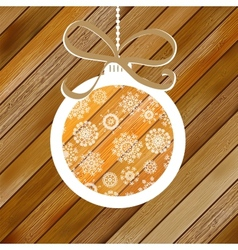 Christmas wood background with ball eps8 vector