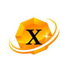 Diamond swoosh initial x vector