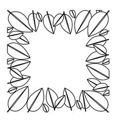 Figure leaves framework icon vector
