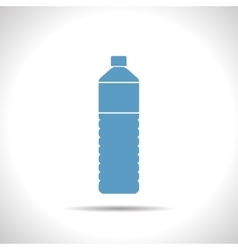 flat bottle vector image vector image
