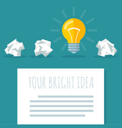 flat design bright idea abstract vector image vector image