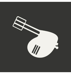 Flat in black and white mobile application mixer vector