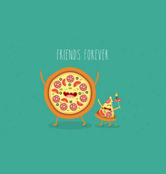 funny fast food set vector image