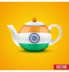 Indian ceramic teapot vector
