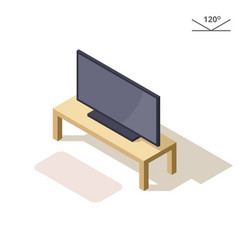 isometric or 3d flat plasma or lcd vector image vector image