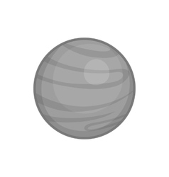 Jupiter planet icon black monochrome style vector image vector image