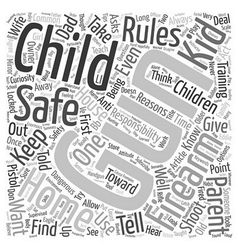 Kids and Guns text background wordcloud concept vector image vector image