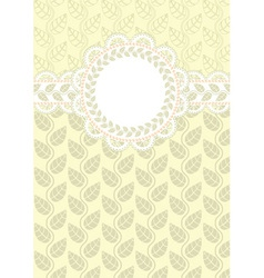 lace frame on a light background vector image vector image