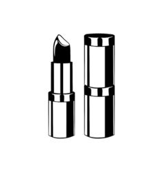 Lipstick lips makeup the beauty industry vector
