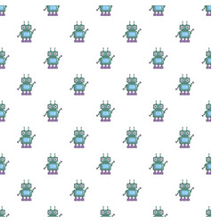 Robotic toy pattern vector