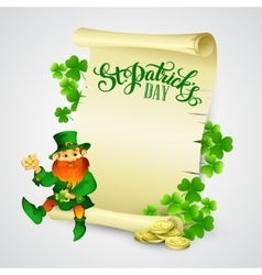 Saint Patricks day with vector image vector image