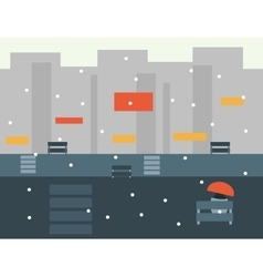 Seamless cartoon city landscape vector