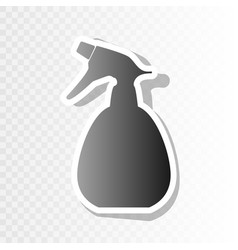 Spray bottle for cleaning sign new year vector