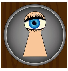 Spying through keyhole vector image vector image