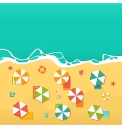 Summer Holidays with beach umbrellas vector image vector image