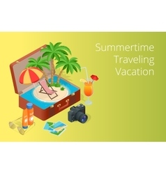 Trip to Summer holidays Travel to Summer holidays vector image
