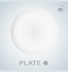 white porcellan plate isolated on a background vector image vector image