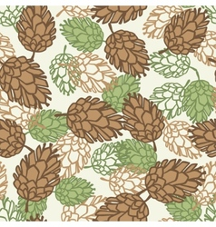 Winter seamless pattern with stylized pine cones vector