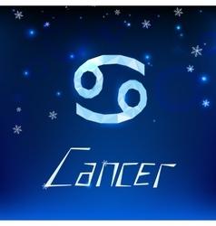 01 cancer horoscope sign vector