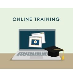 Online training design education concept vector