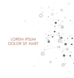 Abstract connect background with dots and lines vector
