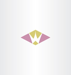 Logotype w letter symbol design sign vector