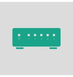 Ethernet switch icon vector