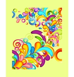 Funky background with rainbow splashes vector