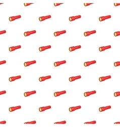 Red flashlight pattern cartoon style vector
