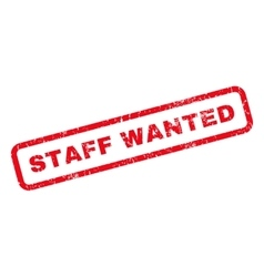 Staff wanted rubber stamp vector