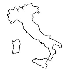 Isolated italian map vector