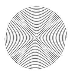 simple black and white spiral fingerprint design vector image