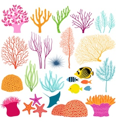 Underwater design elements vector