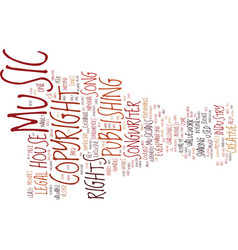 The legal rights of musicians text background vector