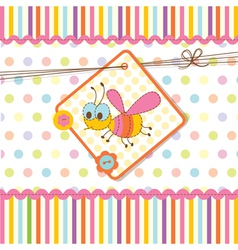 Baby shower with bee 2 vector image