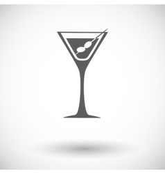 Martini single icon vector