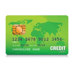 green credit card vector image