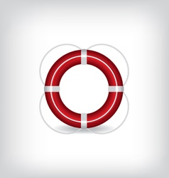 Life buoy red vector