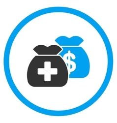 Health care funds rounded icon vector