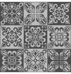 Tracery patchwork pattern moroccan tiles ornaments vector