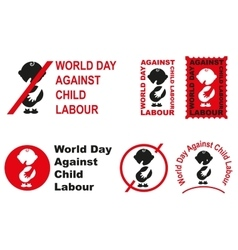 World day against child labour vector