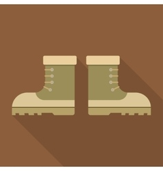 Combat military boots with shadow vector