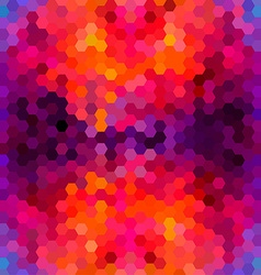 Abstract colorful honeycomb pattern background vector